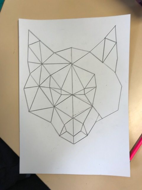Le loup la sym trie maitresse de la for t - Coloriage symetrie ...