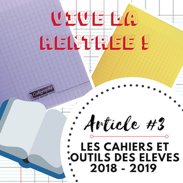 Vive La Rentrée 3 I Cahiers Outils Des élèves 20182019